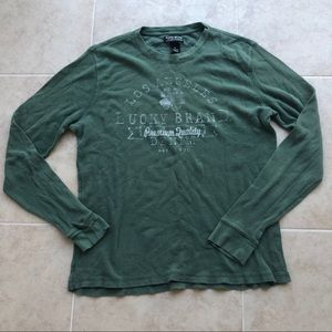 Men's XL Green Lucky Brand Long Sleeve Thermal
